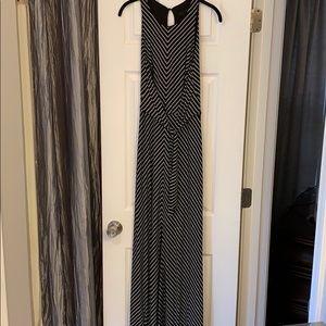 WHBM maxi split front sleeveless tie front